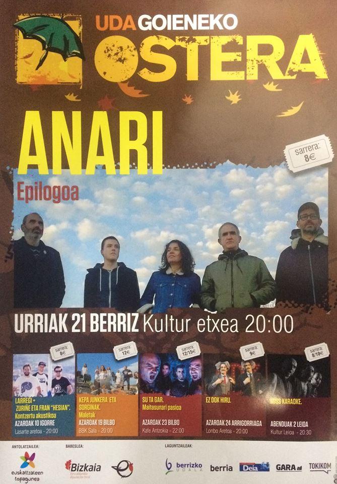 """Berriz, Anari """"Epilogoa"""" @ Berrizko Kultur Etxea"""