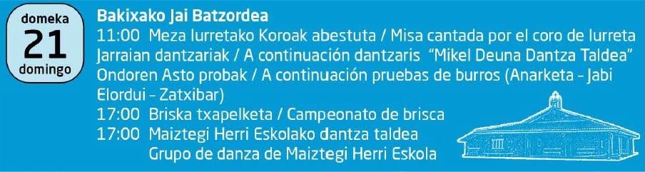 Iurreta, Bakixako Jaiak @ Bakixa Auzoa