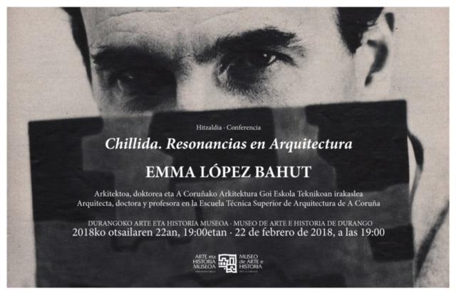 """Durango, """"Chillida. Resonancias en arquitectura"""" hitzaldia @ Durangoko Museoa"""