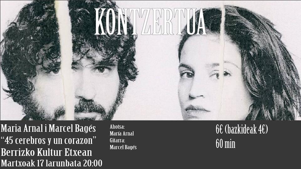 Berriz, Maria Arnal i Marcel Bagés @ Berrizko Kultur Etxea