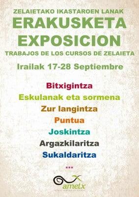 Amorebieta-Etxano, Zelaietako ikastaroetako lanen erakusketa @ Zelaieta Zentroa