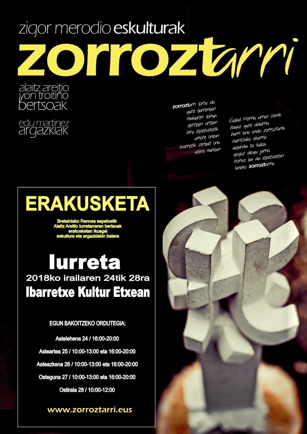 """Iurreta, """"Zorroztan"""" erakusketa @ Ibarretxe Kultur Etxean"""