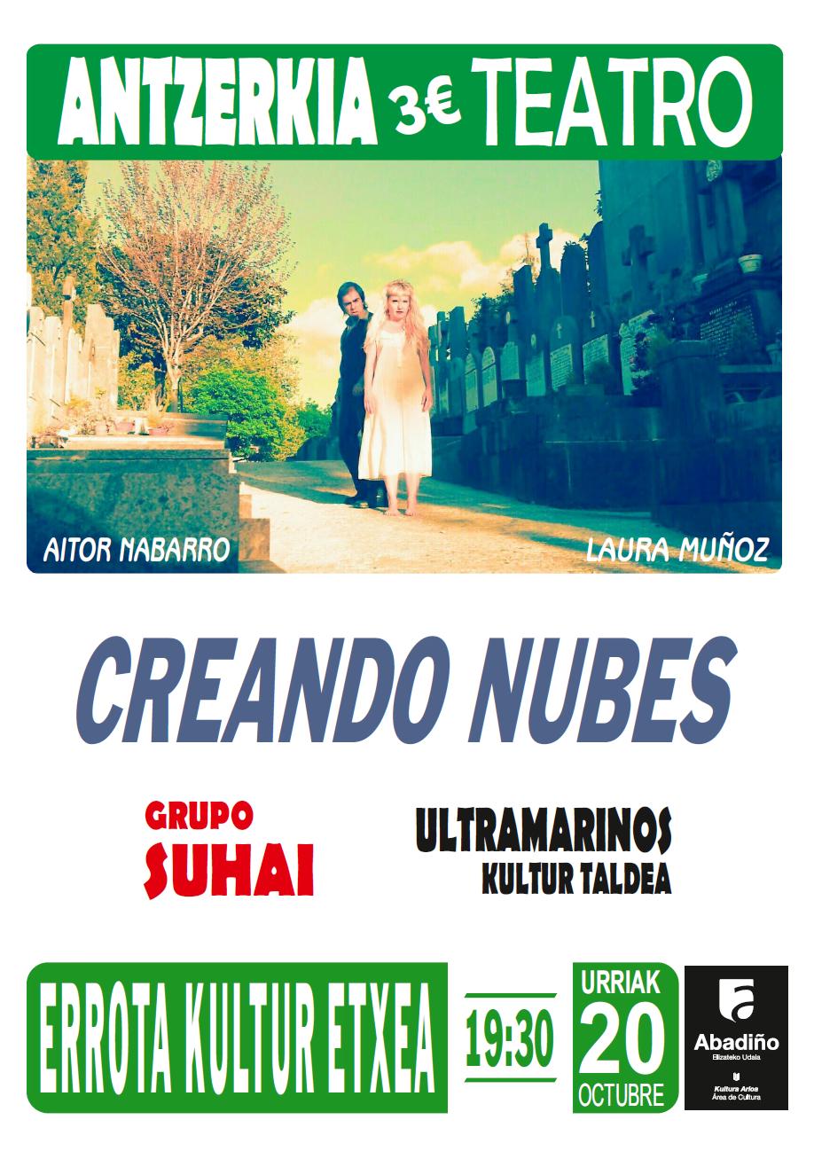 """Durango, """"Creando nubes"""" antzezlana @ Errota Kultur Etxean"""