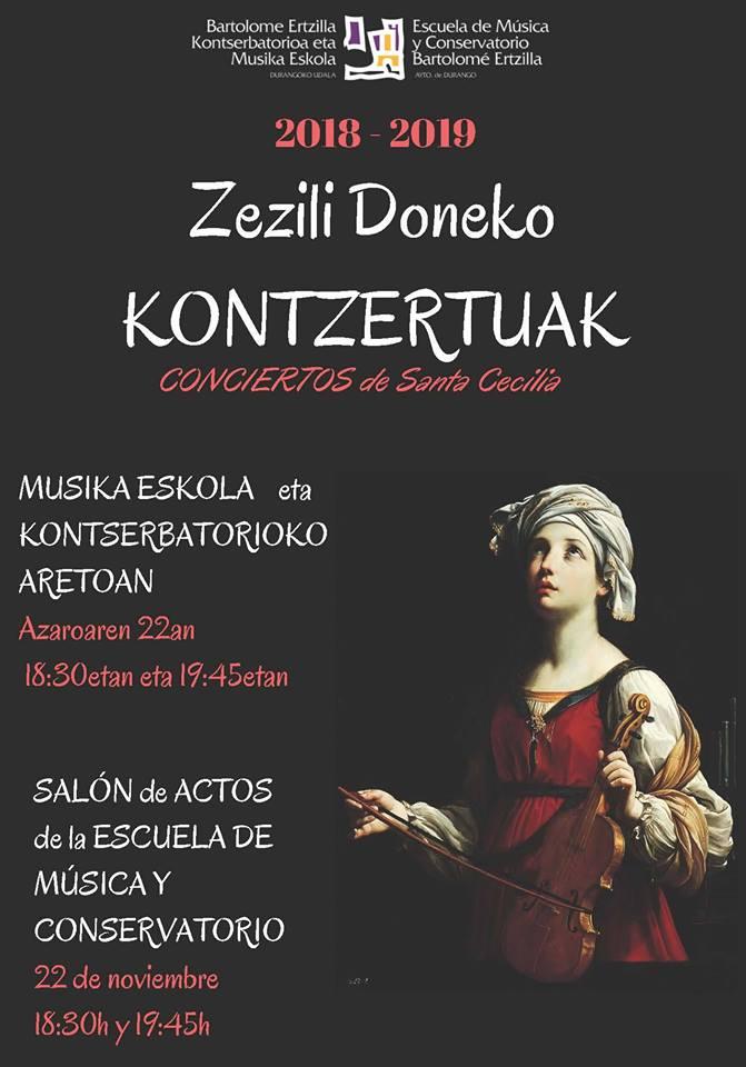 Durango, Zezili Doneko kontzertuak @ Bartolome Ertzilla Musika Eskola