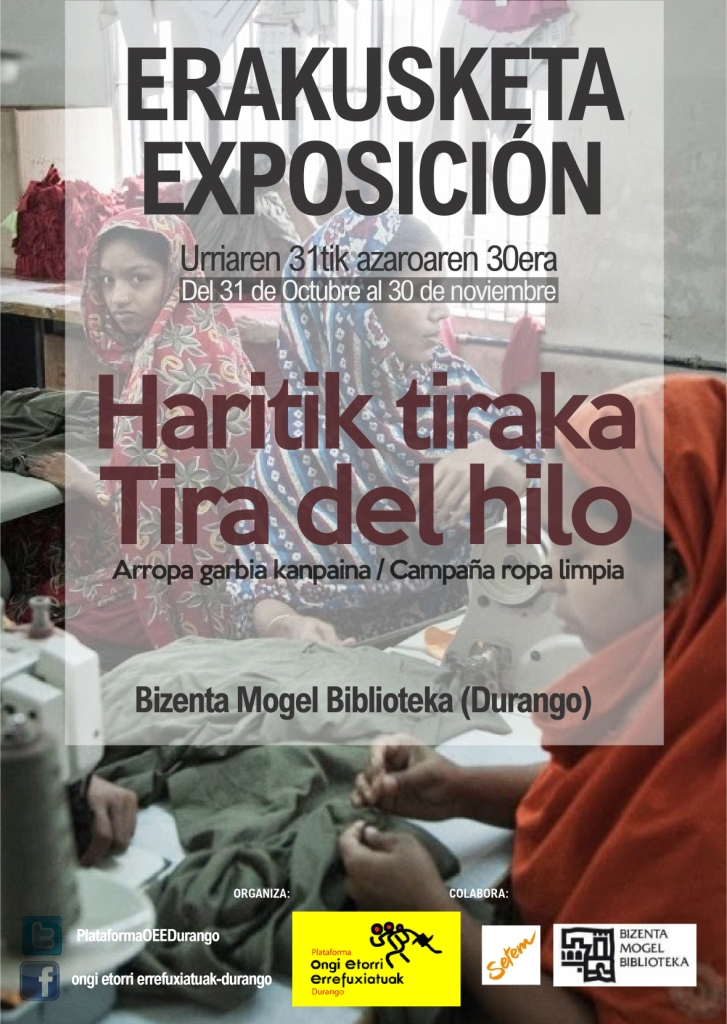 """Durango, """"Haritik Tiraka"""" erakusketa @ Bizenta Mogel Biblioteka"""