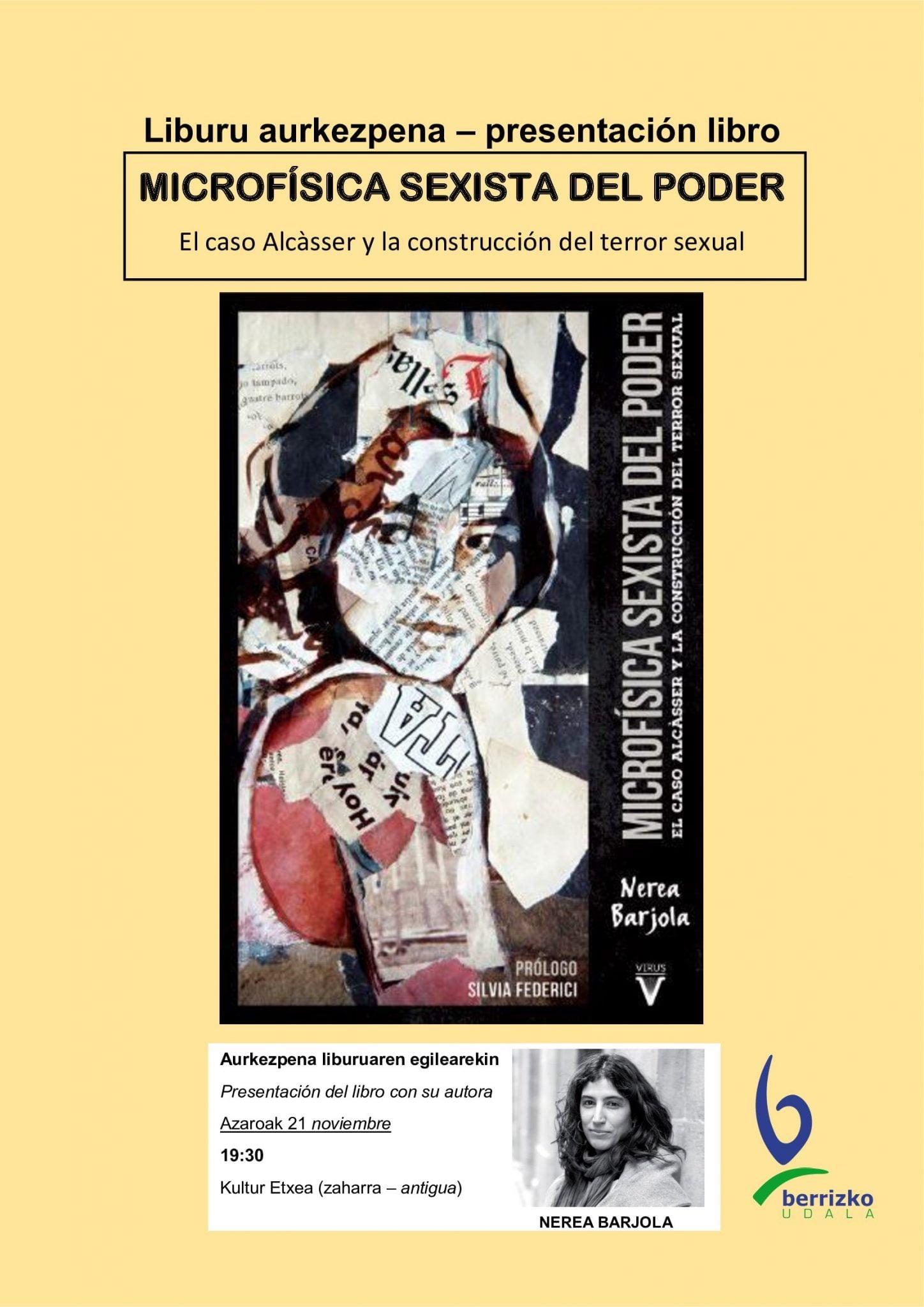 Berriz, Nerea Barjolaren liburuaren aurkezpena @ Berrizko Kultur Etxea