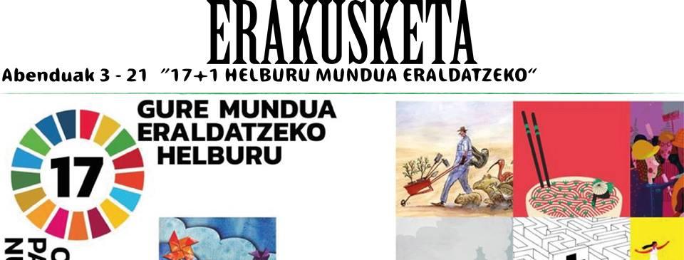 """Berriz, """"17+1 helburu mundua eraldatzeko"""" erakusketa @ Berrizko Kultur Etxea"""