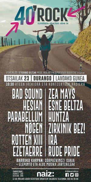 """Durango, """"40 minutu Rock"""" @ Landako Gunea"""