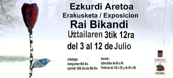 Durango, Rai Bikandiren erakusketa @ Ezkurdi Aretoa