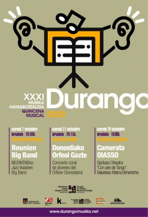 Durango, Musika Hamabostaldia- Ganbar Orkestra @ San Agustin Kultur Gunea