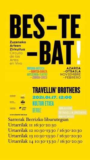 """Berriz, """"Travellin' Brothers"""" @ Berrizko Kultur Etxea"""