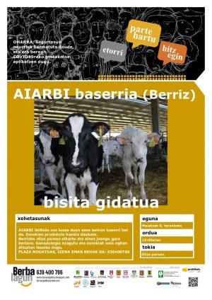 Berriz, Arraibi baserrira bisita gidatua @ Berriz