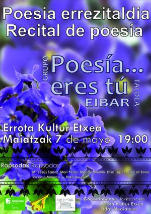 """Abadiño, """"Poesia errezitaldia"""" @ Errota Kultur Etxea"""
